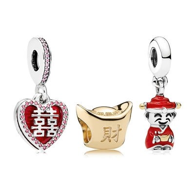 Sito Pandora Ciondoli Happiness Fortune And Luck Charm Pack